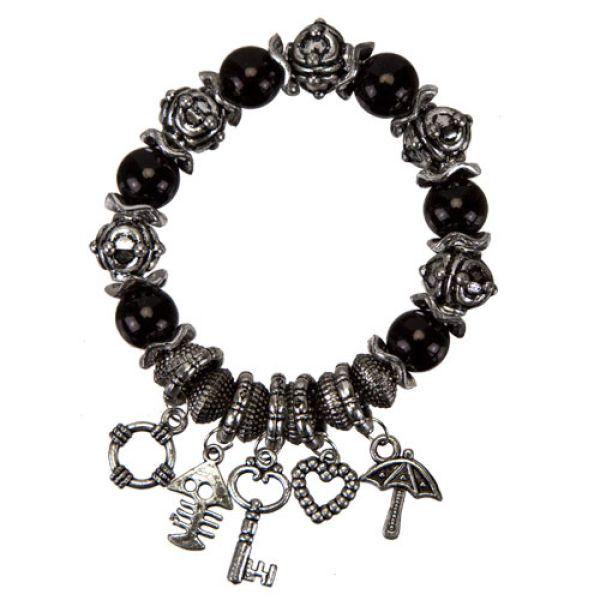 Fashionable<br> Bracelet, 12mm,<br>Black