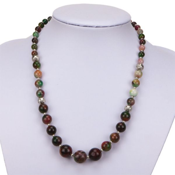 Necklace Agate colorful