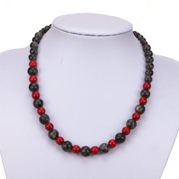Labradorite<br> Necklace / Red<br>Turquoise