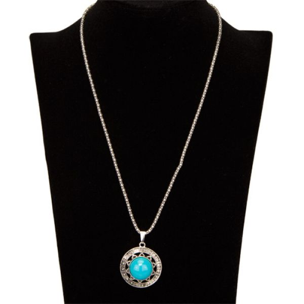 Necklace with<br>Pendant, Blue