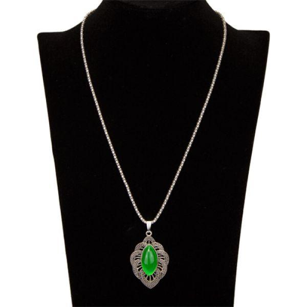 Halskette mit<br>Anhänger, Grün