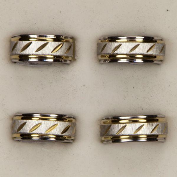 Anello in acciaio<br> inox di larghezza<br>con anello est