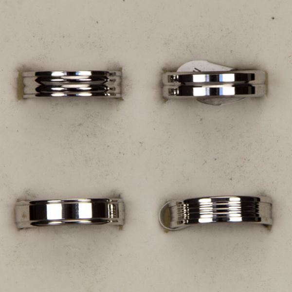 Stainless steel<br>ring, silver, set