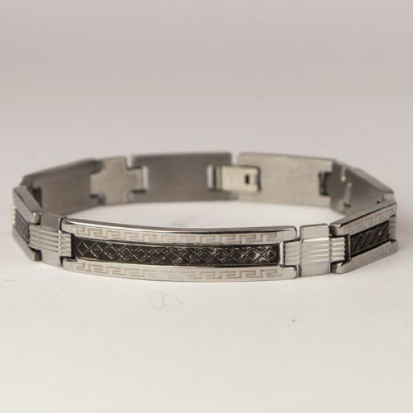 Stainless steel<br> bracelet Silver<br>Black