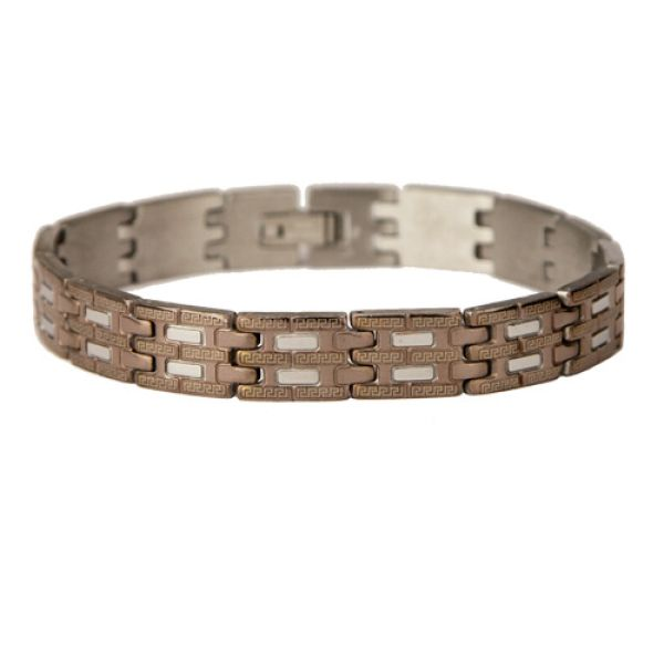 Stainless steel<br> bracelet bronze<br>silver