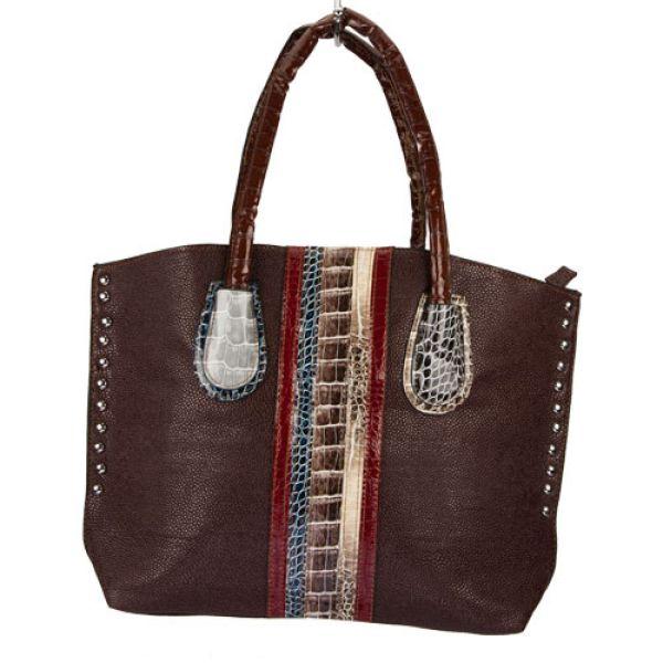 Fashionable<br> handbag Eva, brown<br>/ colored