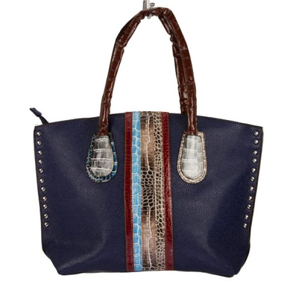Fashionable<br> handbag Eva, Blue<br>/ Colorful