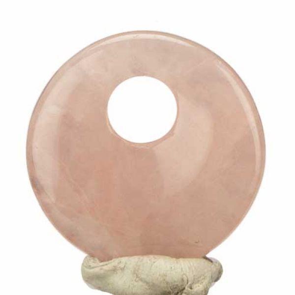 Trailers circle,<br>30mm, rose quartz