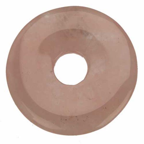 Donut, 40mm, rose quartz