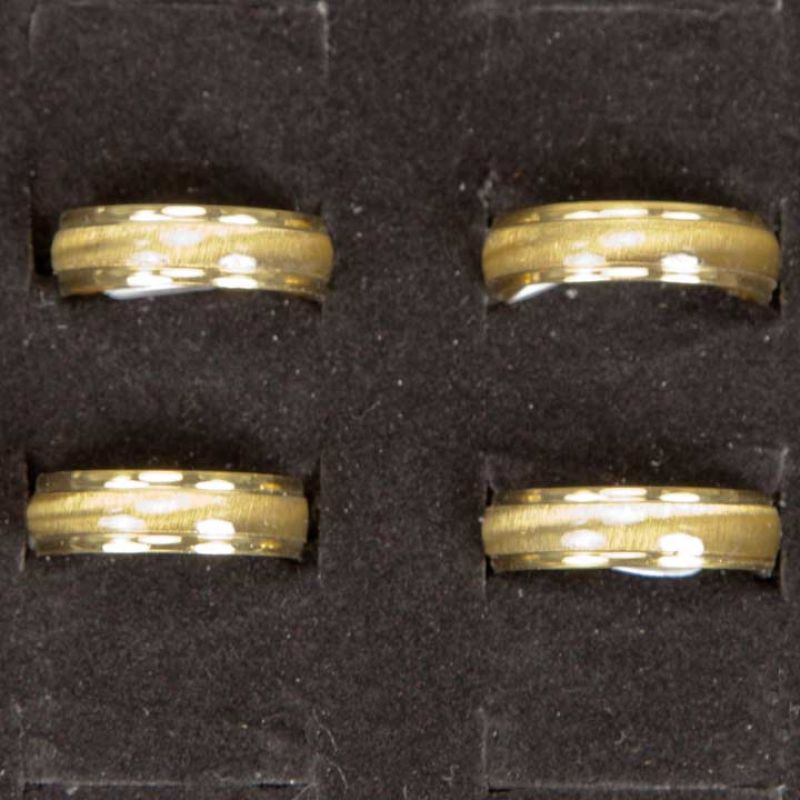 Cateye Stainless<br>Steel Ring, Gold