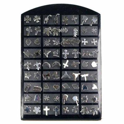 Set: 36 pairs of<br> stainless steel<br>earrings