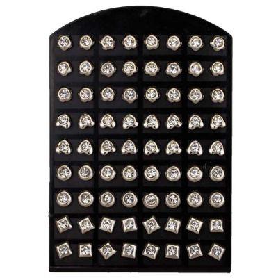 Set: 36 paia di<br> orecchini in<br> acciaio inox con ...