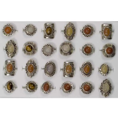 Range of natural stone rings 2