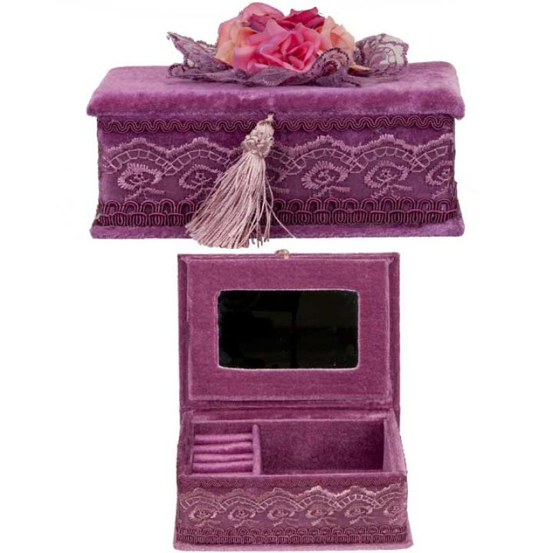 Jewelry box rectangle, Lilac