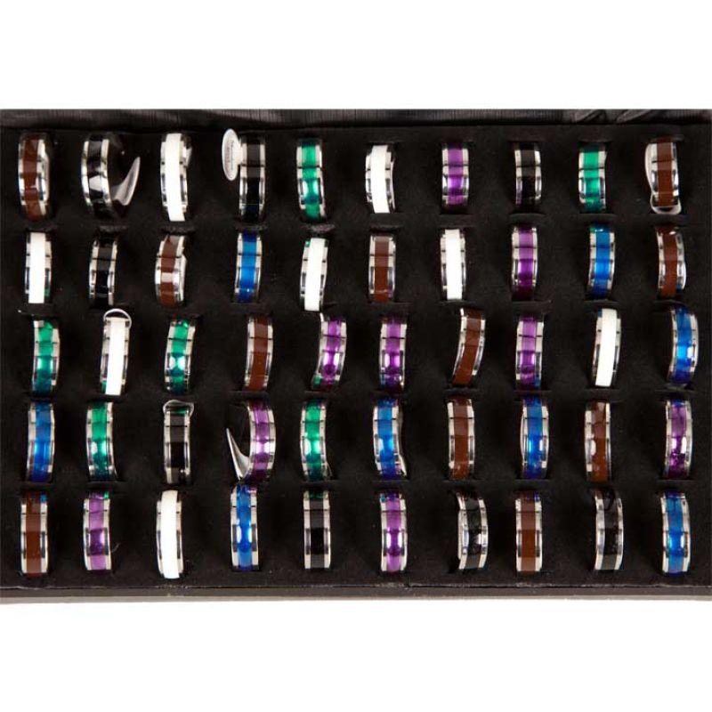 Anello in acciaio<br>inox Colore2