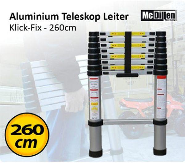 Aluminium Leiter -<br>KlickFix 260