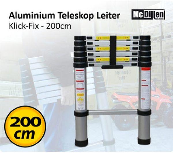 Aluminium Leiter -<br>KlickFix 200