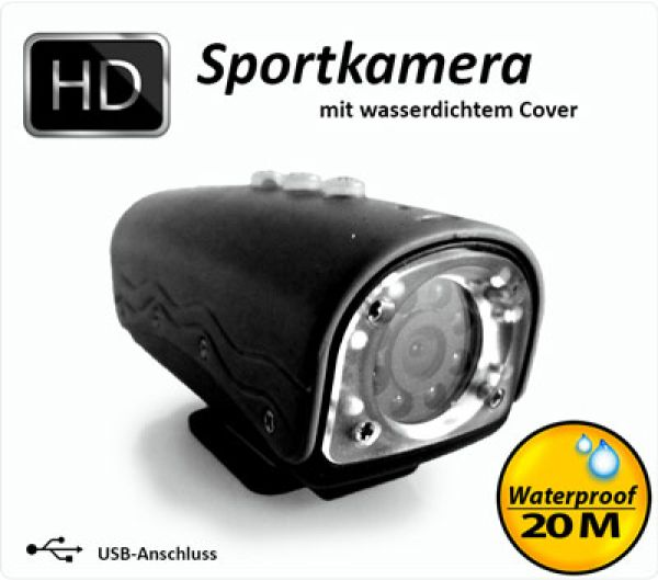 HD 720P Sports Camera / color: black
