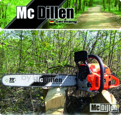 McDillen Chainsaw<br> + transport case -<br>62cc