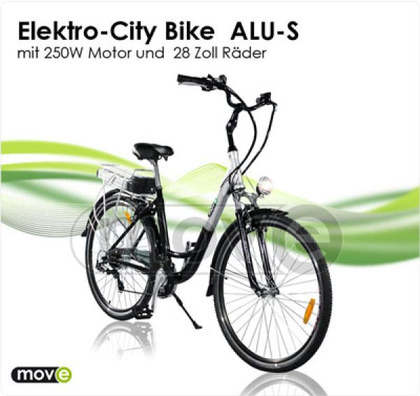 "E-bike 250W - City Bike 28 ""Aluminum S"