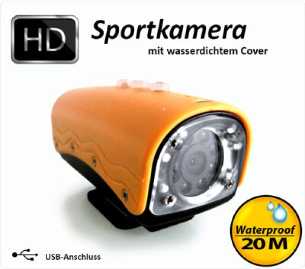 HD 720P Sports<br> Camera / Color:<br>Yellow
