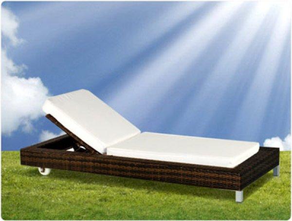 Rattan sun lounger<br>Caribbean