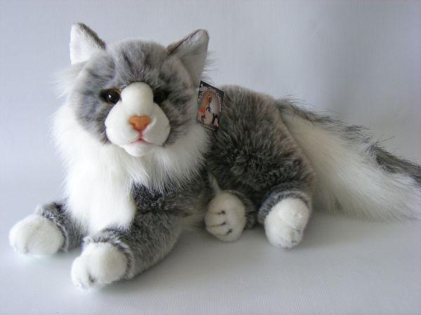 Liegende Maincoon<br>Katze, 30 cm