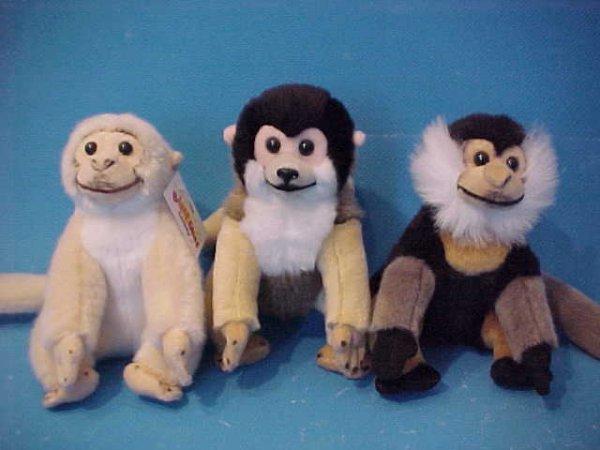Monkeyland, Affen<br> sitzend, 3 fach<br>sortiert