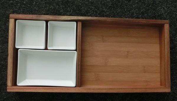 Brotzeit Set Holz Porzellan Impresssionen