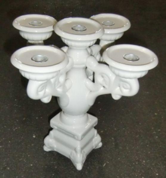 Sonderposten Dekoration Kerzenleuchter weiß