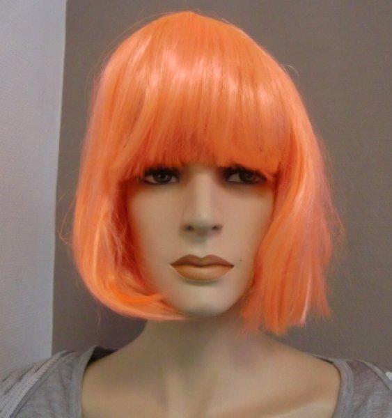 Fasching Karneval Damen Perücke Foxy Neon Orange