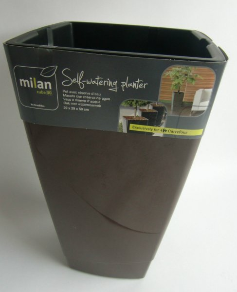 Pflanzgefäss Grosfilex Milan Cube 30 Kunststoff