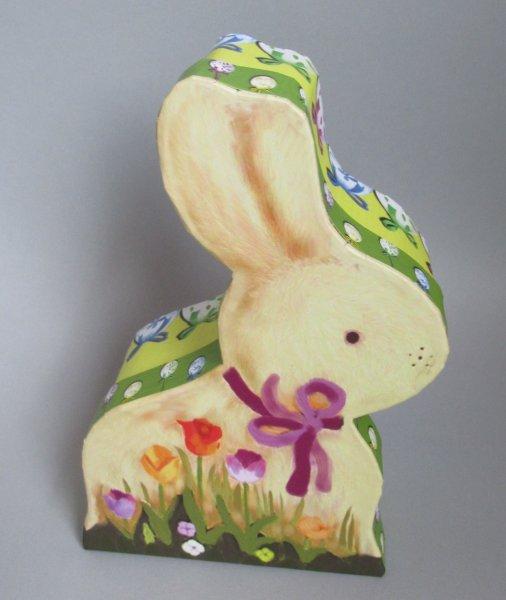 Ostern Geschenkbox Hase bunt Pappe
