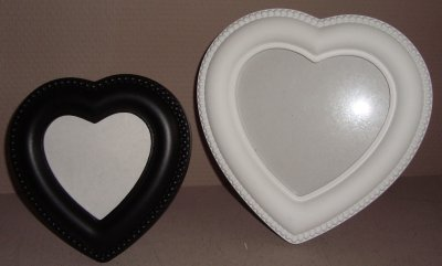 MARAVILLA Bilderrahmen 2tlg. Herzen schwarz/weiß