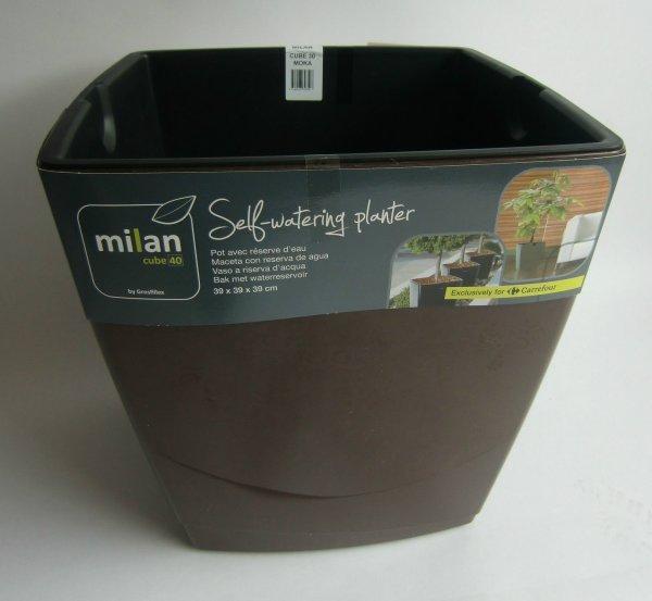 Pflanzgefäss Grosfilex Milan Cube 40 Kunststoff