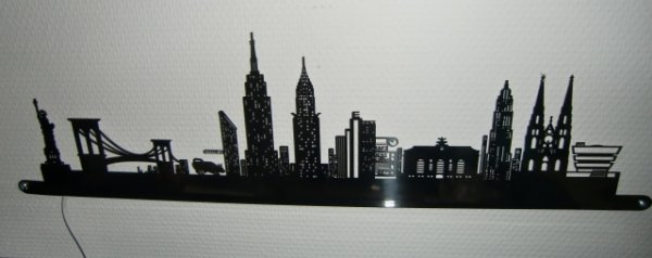 Lampen Dekoleuchten Skyline New York LED`s