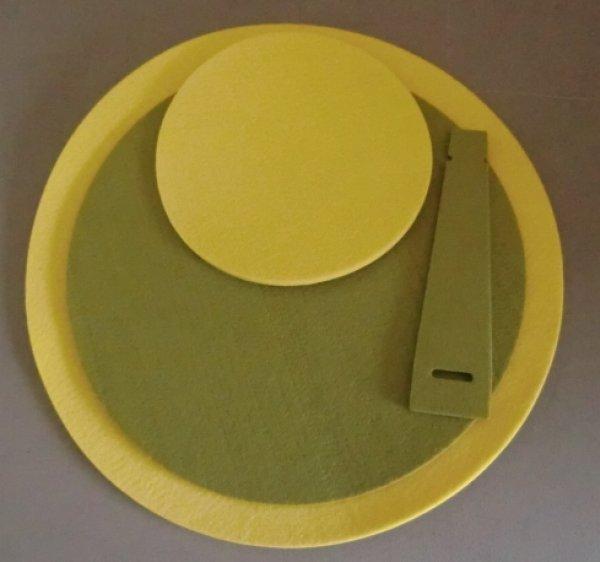 Sonderposten<br> Platzmatten Set<br>Tischset gelb grün