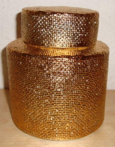 Dose Dekodose gold rund mit Deckel Impressionen