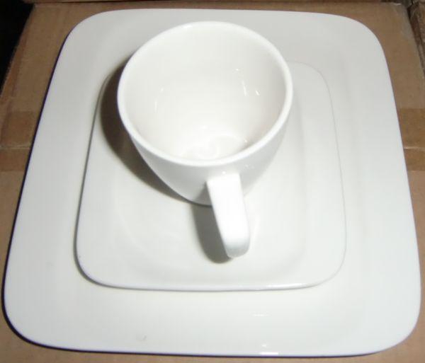 Belacona Kaffeeservice Kaffeegeschirr weiß Roma
