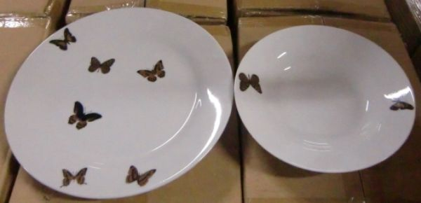 Tafelservice Mariposa Schmetterlinge Porzellan