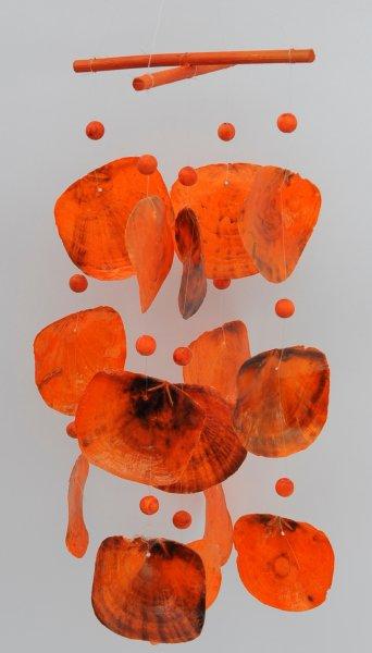 Garten Dekoration Windspiel Capiz orange