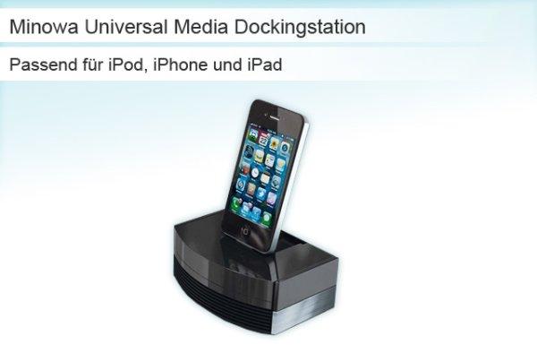 Minowa Universal<br> Media Docking<br>Station schwarz
