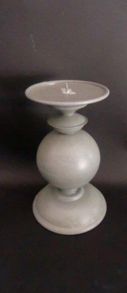 Kerzenständer Kerzenhalter Metall grau Shabby