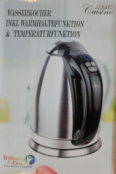 First Cuisine Wasserkocher Edelstahl Haushalt
