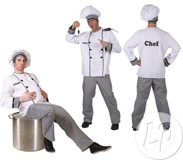 Chef-Koch-Kostüm<br> für Erwachsene<br>Größe XXL