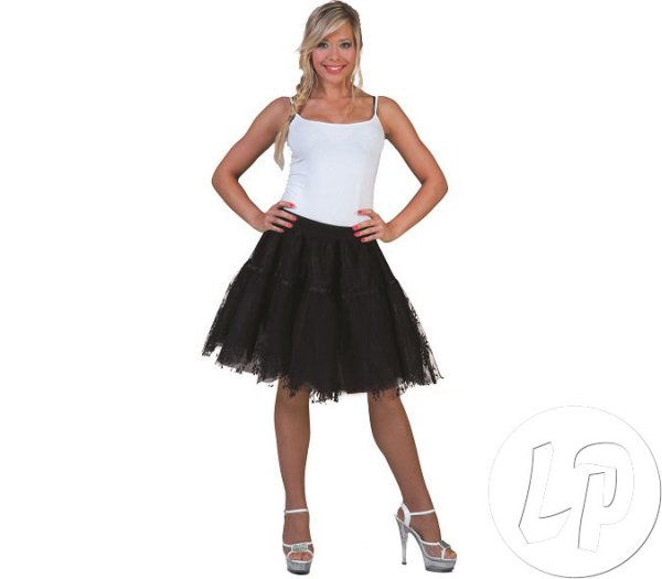 BLACK woman skirt<br> with embroidery<br>One Size