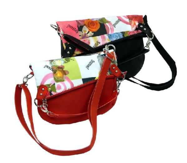 Upbeat over bag with flower print
