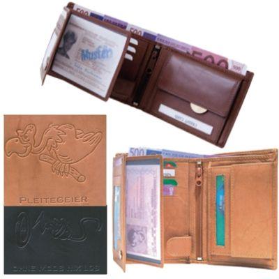 Leather wallets<br>range - Pleitegeier