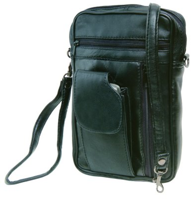 Mr. STEFANO<br> leather bag with<br>front pocket