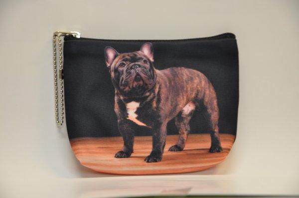 Textile Stoff<br> Geldbörse mit<br> schwarzem Hund ...